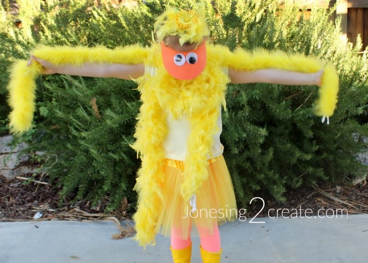 No Sew Duck Costume Tutorial