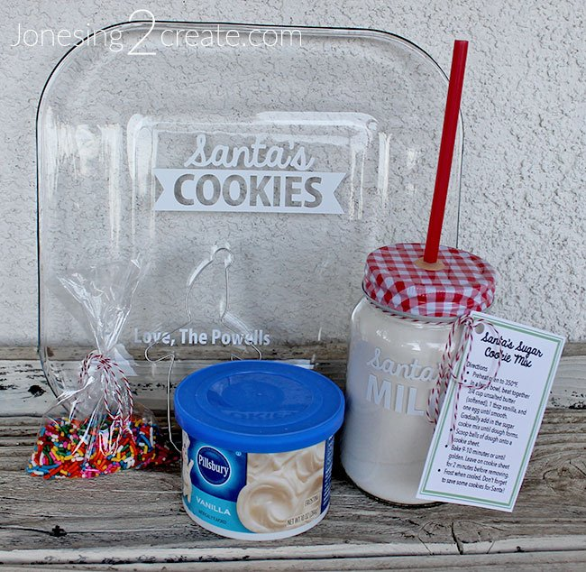 Santa Cookie Plate Kit