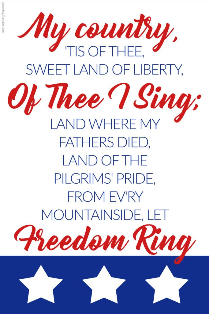 Fourth of July LDS Ministering Printable