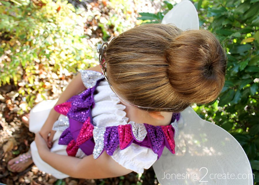 Fairy Princess Costume Hair Bun