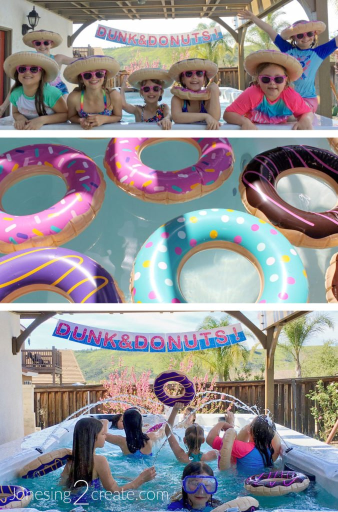Dunk and Donuts Pool Party