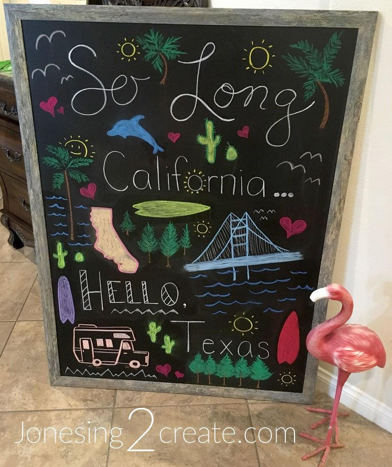 California Goodbye Party Sign