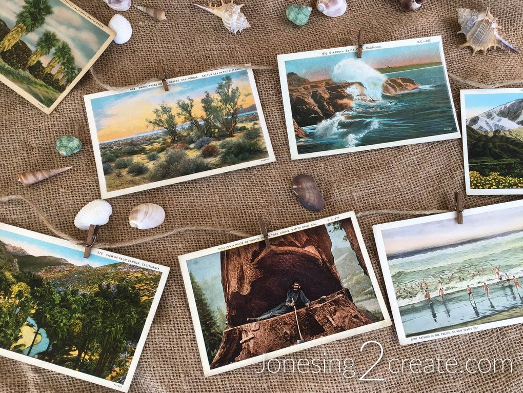 California Dreaming Party Vintage Postcards