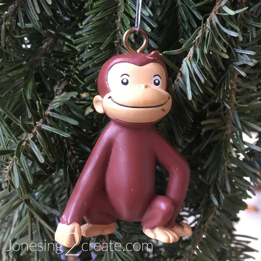 Repurposed Toy Christmas Ornaments Curious George