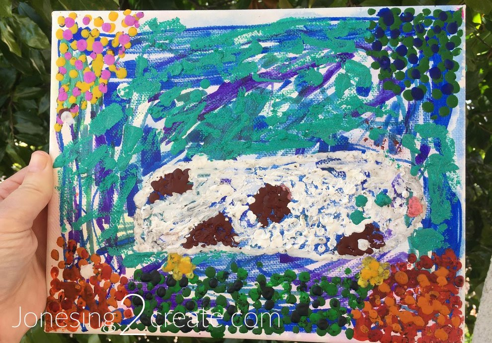 Guinea Pig pointillism painting