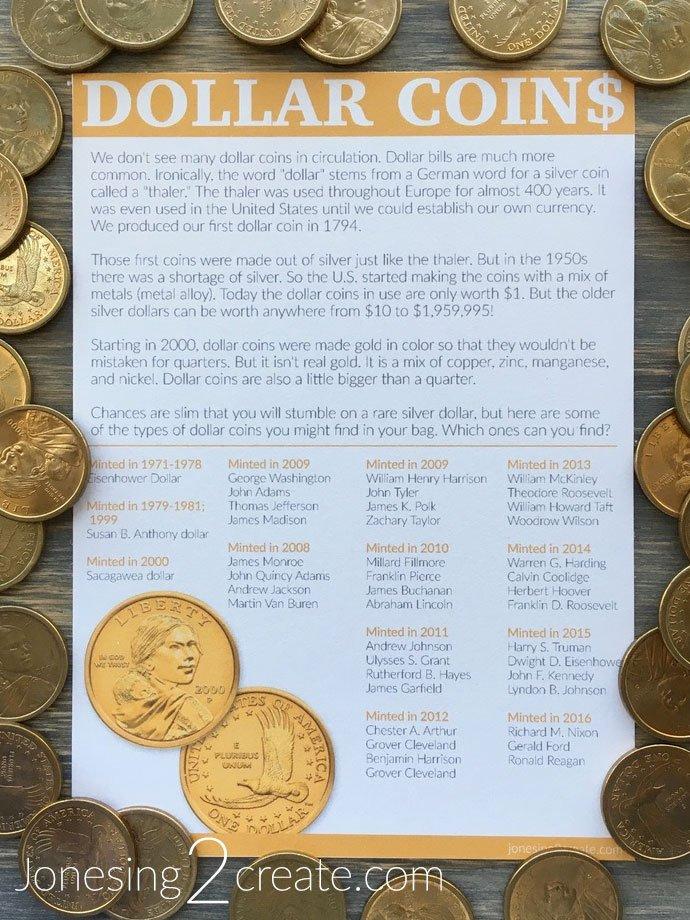 Birthday Money Gift Idea Dollar Coins