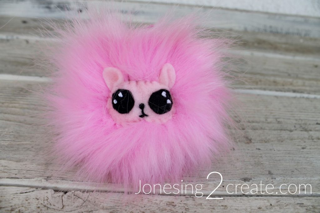 Pygmy Puff Keychain Tutorial With Felt Eyes