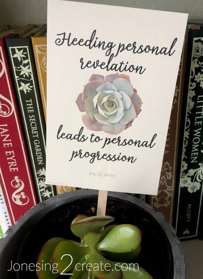 Personal Revelation Printable
