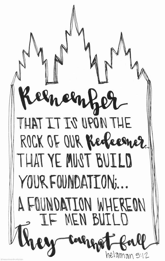 Helaman 5:12 Temple Foundation Printable