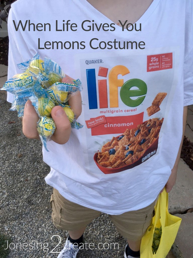 When Life Gives You Lemons Costume with Lemonhead Candy