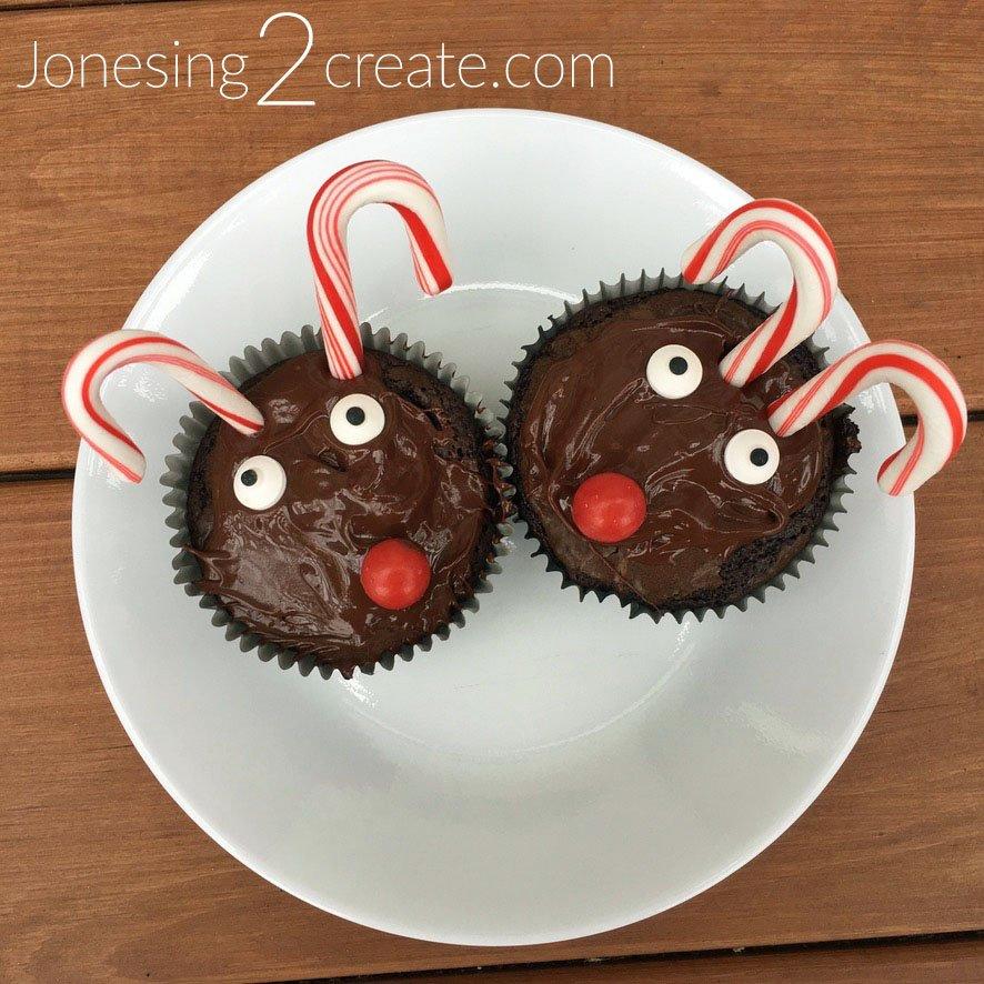 Reindeer Brownie Cupcakes