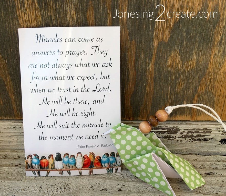 Miracles and Trials of Faith printable with Birds