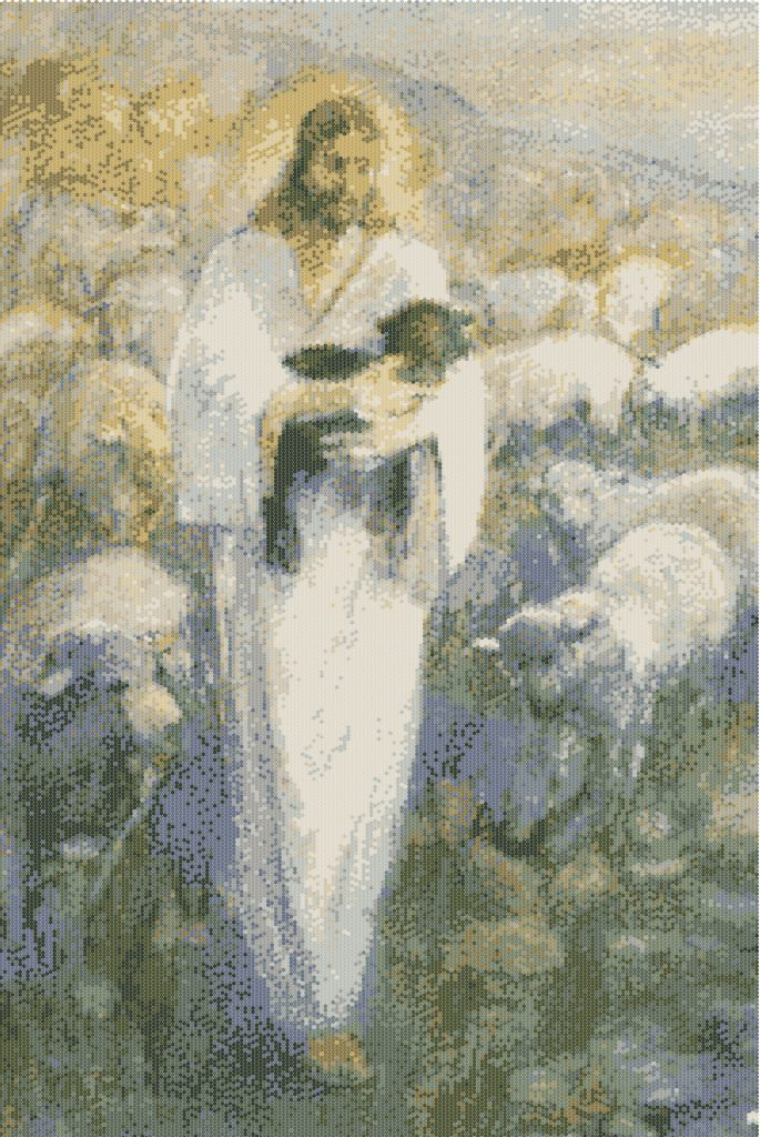 Girls' Camp Activity Rescue of the Lost Lambs Pointillism
